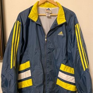 ADIDAS Windbreaker VINTAGE Jacket RN#88387 SIZE L